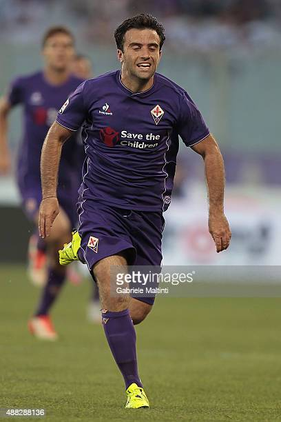 Giuseppe Rossi of ACF Fiorentina in action during the Serie A match between ACF Fiorentina and Genoa CFC at Stadio Artemio Franchi on September 12...