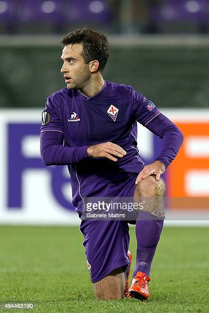 Giuseppe Rossi of ACF Fiorentina looks on during the UEFA Europa League group I match between ACF Fiorentina and KKS Lech Poznan on October 22 2015...