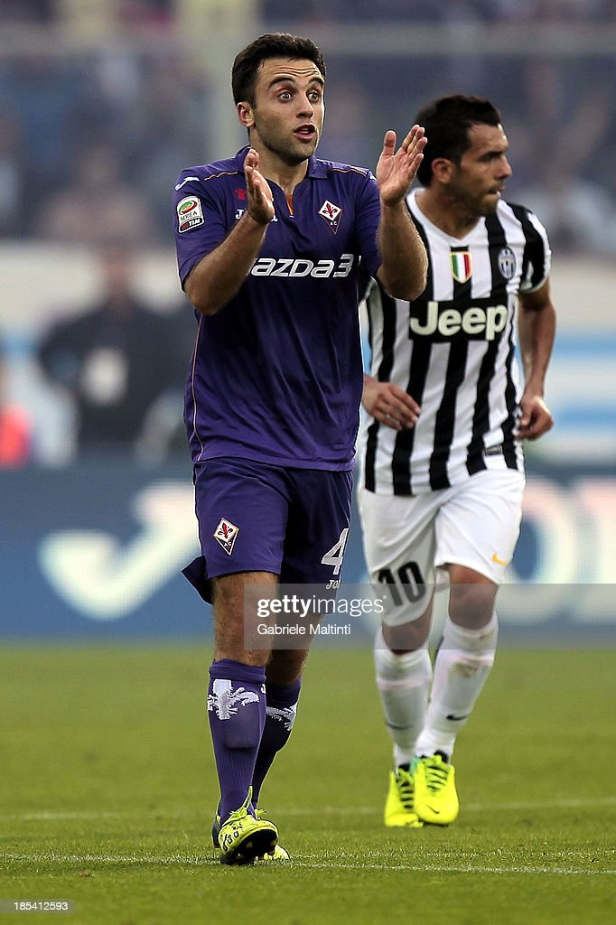 <a gi-track='captionPersonalityLinkClicked' href=/galleries/search?phrase=Giuseppe+Rossi&family=editorial&specificpeople=215461 ng-click='$event.stopPropagation()'>Giuseppe Rossi</a> of ACF Fiorentina reacts during the Serie A match between ACF Fiorentina and Juventus at Stadio Artemio Franchi on October 20, 2013 in Florence, Italy.