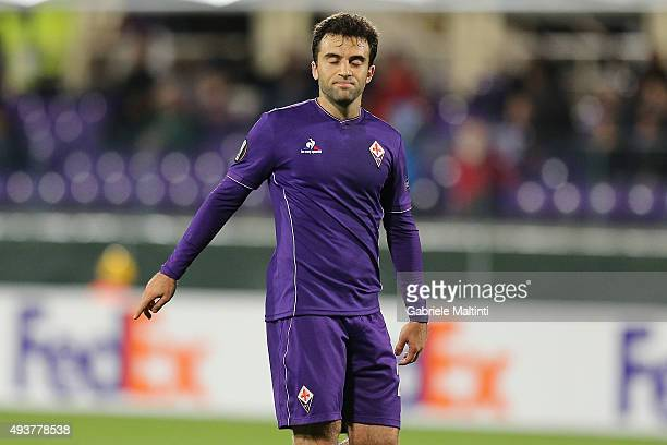 Giuseppe Rossi of ACF Fiorentina shows his dejection during the UEFA Europa League group I match between ACF Fiorentina and KKS Lech Poznan on...