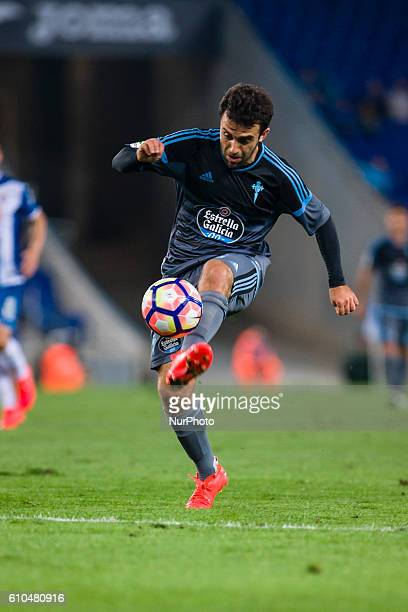 Giuseppe Rossi of Celta in action during the RCD Espanyol vs Real Club Celta de Vigo of La Liga played at the RCDE Stadium on September 25 2016 in...