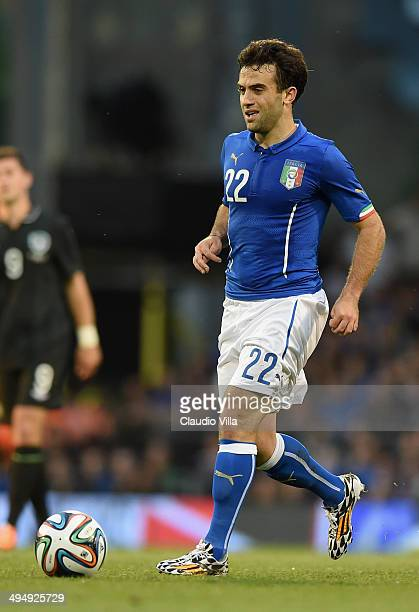 Giuseppe Rossi of Italy in action during the International Friendly match between Italy and Ireland at Craven Cottage on May 30 2014 in London England