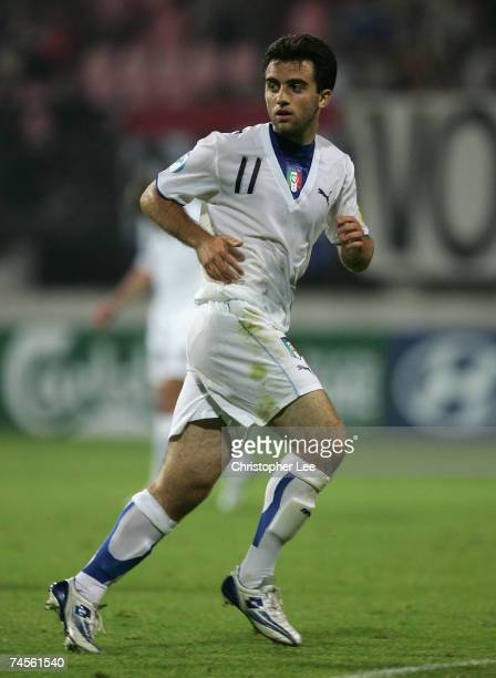 Giuseppe Rossi of Italy in action during the UEFA U21 Championship Group B match between Serbia U21 and Italy U21 at the Goffert Stadium on June 11...