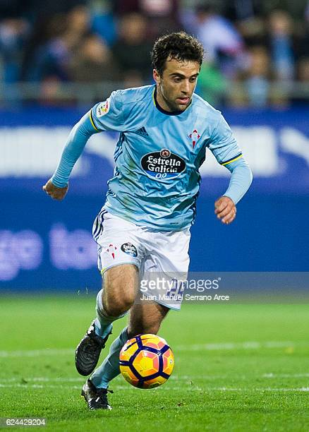Giuseppe Rossi of RC Celta de Vigo controls the ball during the La Liga match between SD Eibar and RC Celta de Vigo at Ipurua Municipal Stadium on...