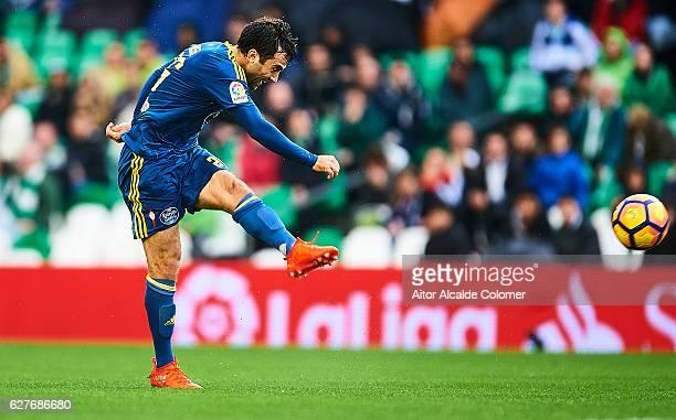 Giuseppe Rossi of RC Celta de Vigo in action during La Liga match between Real Betis Balompie an RC Celta de Vigo at Benito Villamarin Stadium on...