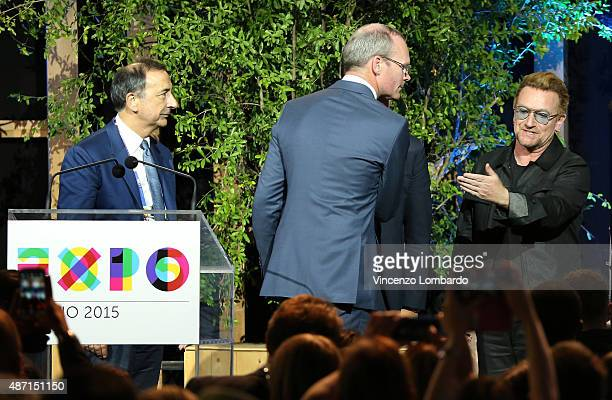 Giuseppe Sala Bono Vox and Minister Simon Coveney attend the event 'It begins with me How the world can end hunger in our lifetime' organised by...