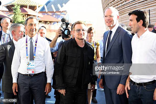 Giuseppe Sala Bono Vox Minister Simon Coveney and Minister Maurizio Martina attend the event 'It begins with me How the world can end hunger in our...
