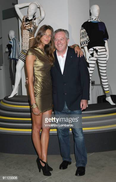 Giuseppe Stefanel and Daria Werbowy attend the Stefanel 50th Anniversary Party as part of the Milan Womenswear Fashion Week Spring/Summer 2010 at the...