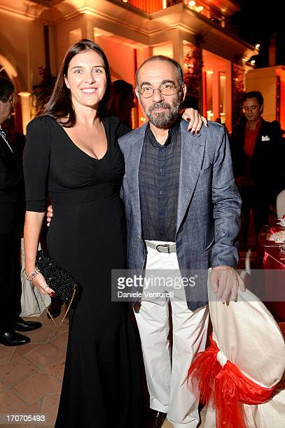 Giuseppe Tornatore and Gisella Marengo attend Taormina Filmfest and Prince Albert II Of Monaco Foundation Gala Dinner at on June 16 2013 in Taormina...