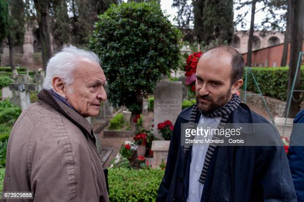 Giuseppe Vacca and Matteo Orfini President of the National Assembly of the PD pay homage to the tomb of Antonio Gramsci sited in the third area of...