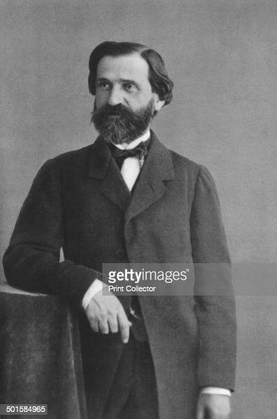 Giuseppe Verdi Italian Romantic composer mainly of opera A print from Les Musiciens Celebres Lucien Mazenod Paris 1948