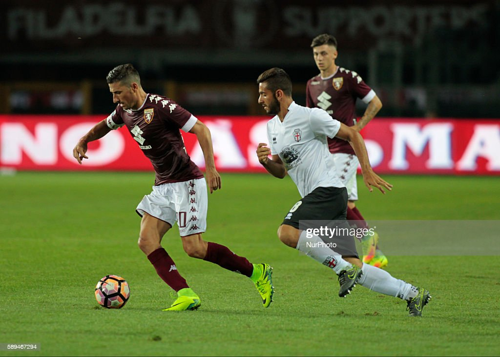 Giuseppe Vives during Tim Cup 20162017 match between Torino FC and FC Pro Vercelli at the Olympic Stadium of Turin on august 013 2016 in Torino Italy