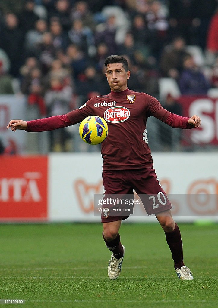 Giuseppe Vives of Torino FC in action during the Serie A match between Torino FC and Atalanta BC at Stadio Olimpico di Torino on February 17, 2013 in Turin, Italy.