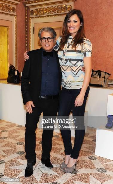 Giuseppe Zanotti and Alena Seredova attend the Vicini Presentation as part of Milan Fashion Week Womenswear Autumn/Winter 2011on February 25 2011 in...