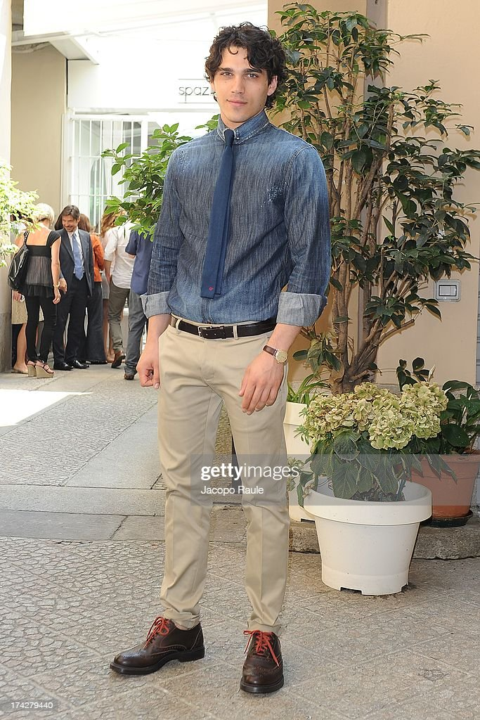 Giuspeppe Maggio attends 'Vent'Anni Prima' on July 23, 2013 in Milan, Italy. Vanity Fair and Rai Fiction present today the first mag series.