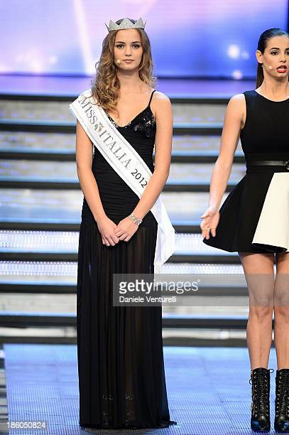 Giusy Buscemi attends the 2013 Miss Italia beauty pageant at the Pala Arrex on October 27 2013 in Jesolo Italy