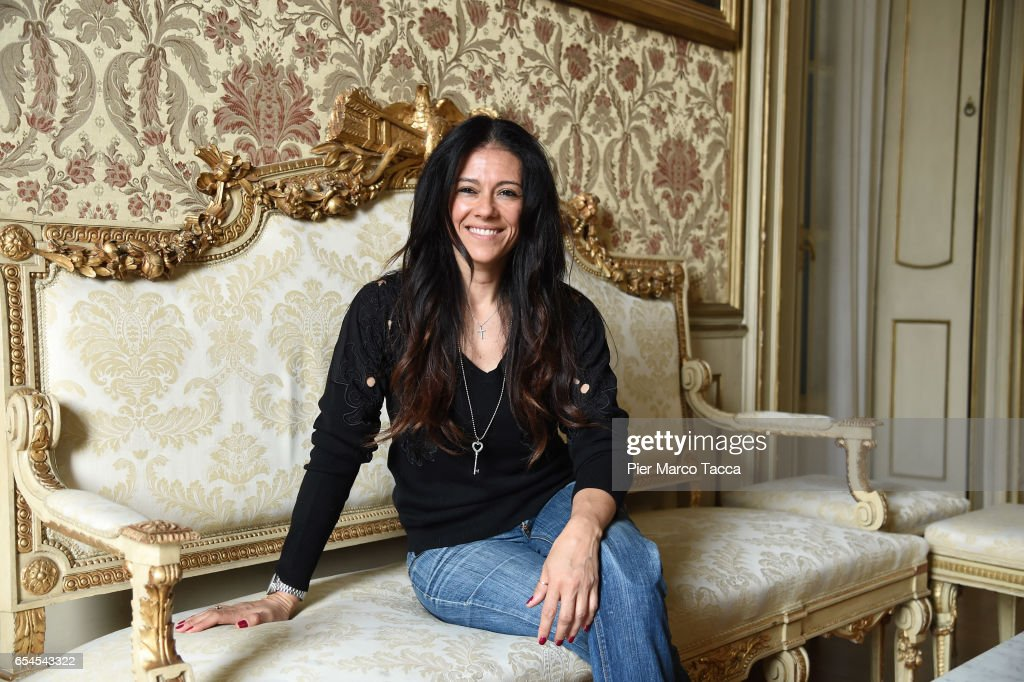 Giusy Versace attends a Stramilano press conference on March 17, 2017 in Milan, Italy.