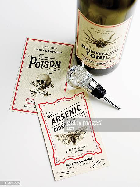 Give any pinot a dash of noir with this scary collection of Mad Scientist bottle labels from Martha Stewart for Grandin Road $12 for a set of 12...