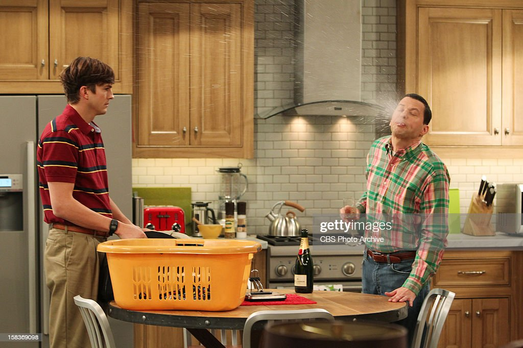 'Give Santa a Tail-Hole' -- Walden juggles having two identities - rich man and poor man, and Alan finds himself alone at Christmas, on TWO AND A HALF MEN, Thursday, Dec. 13 (8:31- 9:01 PM, ET/PT) on the CBS Television Network. From left to right, Walden Schmidt (Ashton Kutcher) and Alan Harper (Jon Cryer).