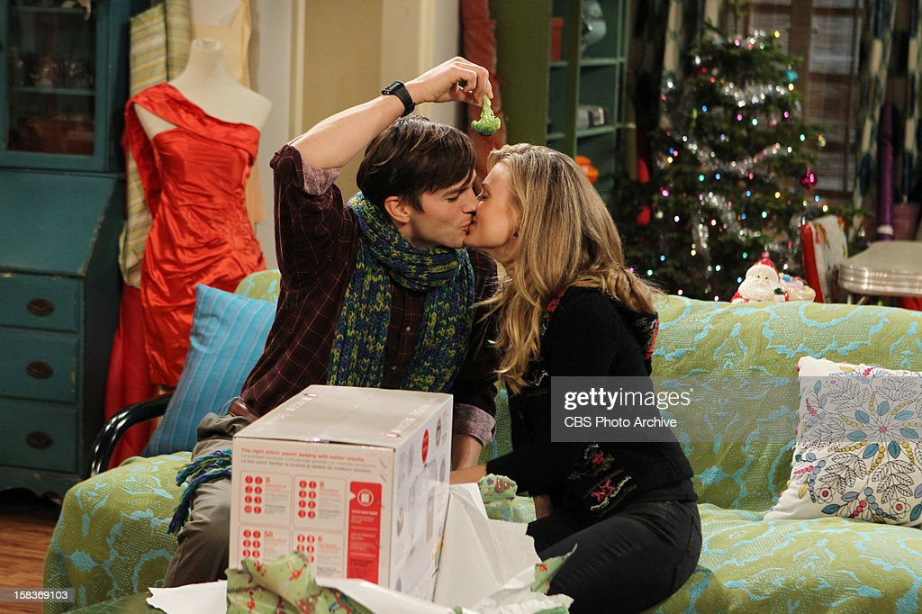'Give Santa a Tail-Hole' -- Walden juggles having two identities - rich man and poor man, and Alan finds himself alone at Christmas, on TWO AND A HALF MEN, Thursday, Dec. 13 (8:31 - 9:01 PM, ET/PT) on the CBS Television Network. From left to right, Walden Schmidt (Ashton Kutcher) and Kate (Brooke D'Orsay).