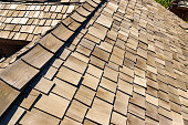various forms of roof made of cedar shake