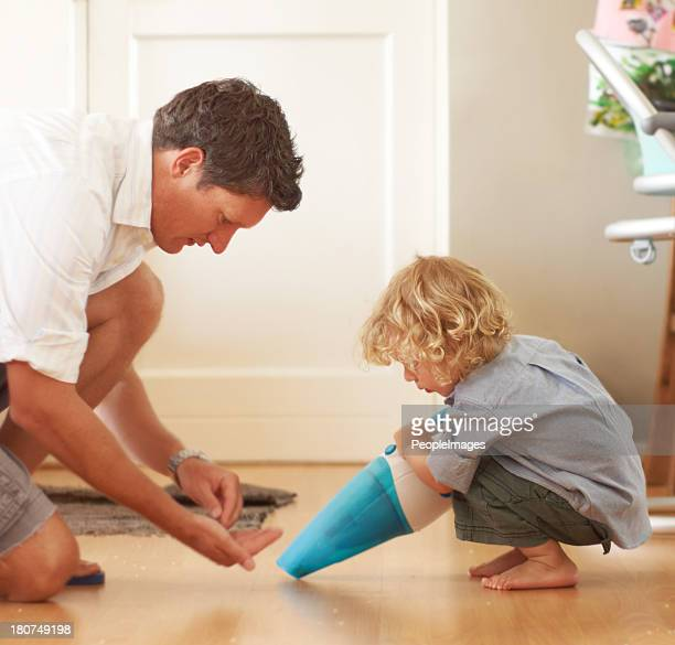 Giving dad a helping hand