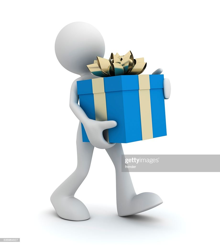 giving gift : Stock Photo