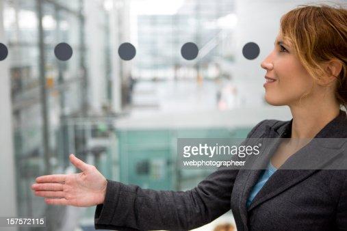 Giving hand for handshake : Stock Photo