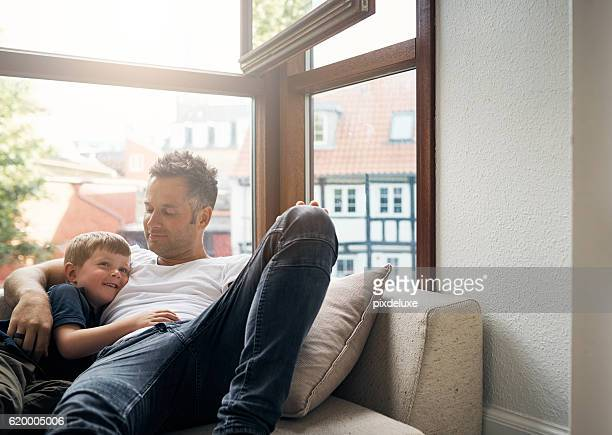 Giving his son the gift of his undivided attention