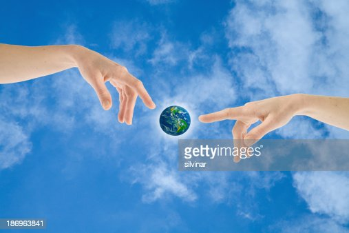Giving live to Earth : Stock Photo