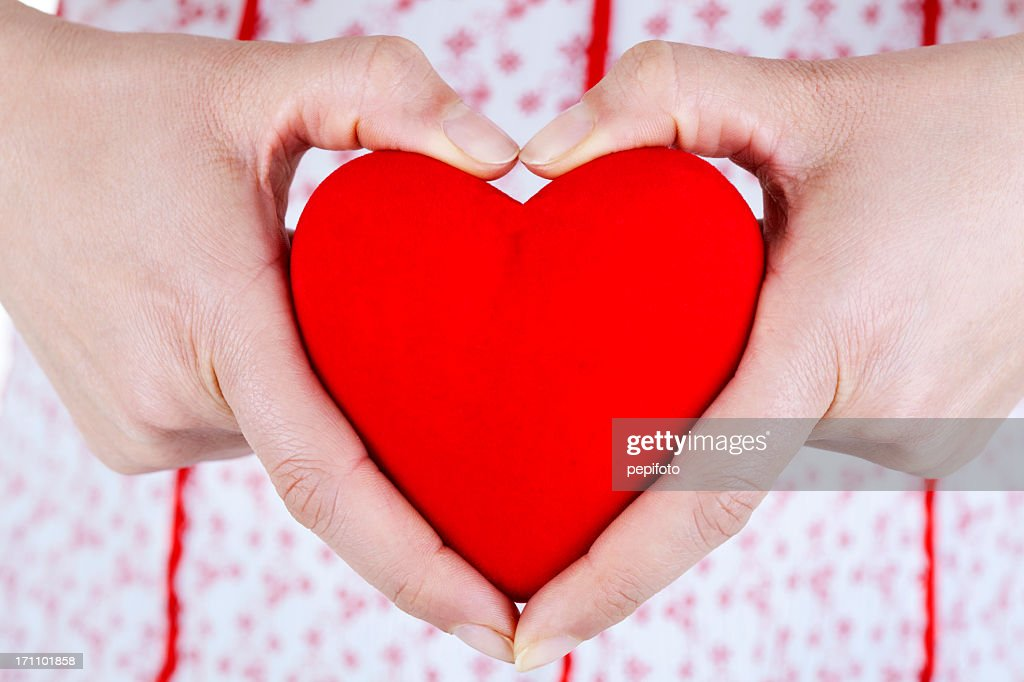 Giving love : Stock Photo