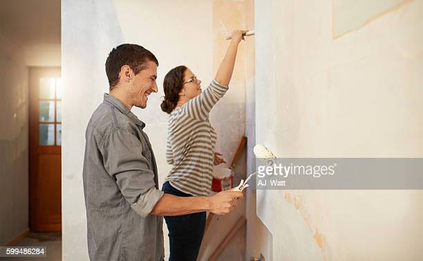 Giving their home a makeover