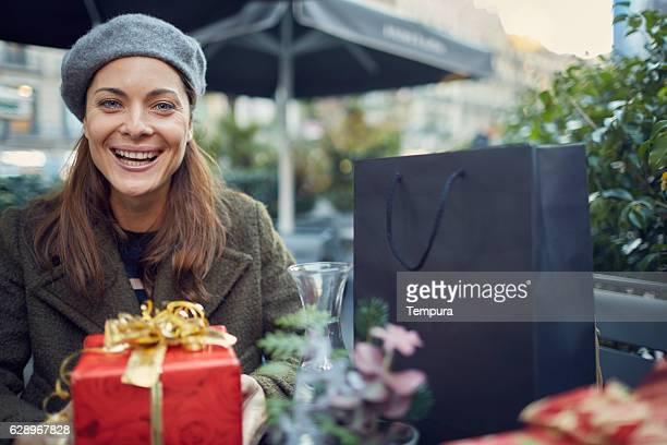 Giving you a present, pov.