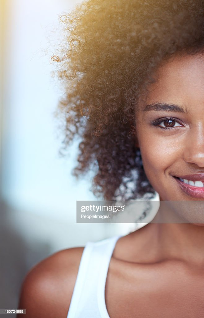 Giving you her best side : Stock Photo