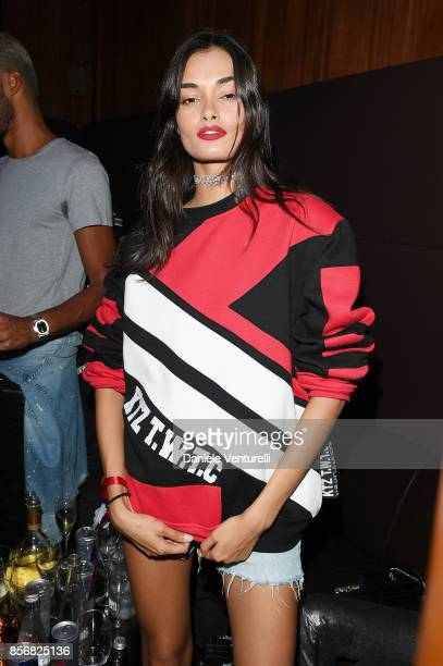Gizele Oliveira attends Mene 24K Jewelry By Diana Picasso Celebrations during Paris Fashion Week SS18 on October 2 2017 in Paris France