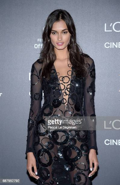 Gizele Oliveira attends the Gala 20th Birthday Of L'Oreal In Cannes during the 70th annual Cannes Film Festival at Martinez Hotel on May 24 2017 in...