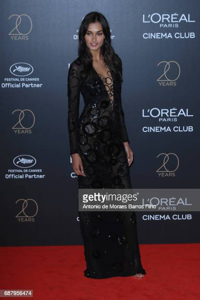 Gizele Oliveira attends the Gala 20th Birthday Of L'Oreal In Cannes during the 70th annual Cannes Film Festival at Hotel Martinez on May 24 2017 in...