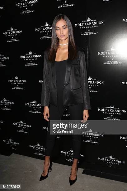 Gizele Oliveira attends the Moet Chandon x Public School Launch on September 10 2017 in New York City