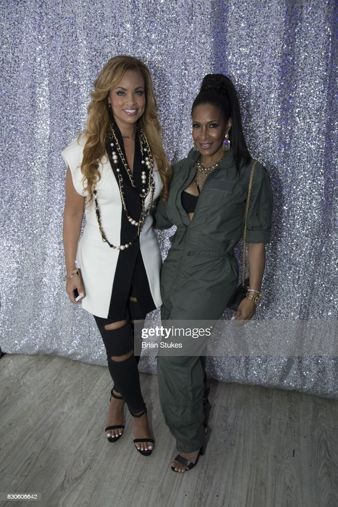 Gizelle Bryant (L) and Sheree Whitfield (R) attend 'Cupcakes With Sheree DC' Meet & Greet Affair and book signing for 'Wives, Fiancees and Side-Chicks of Hotlanta' at Stonefish Grill on August 11, 2017 in Washington, DC.