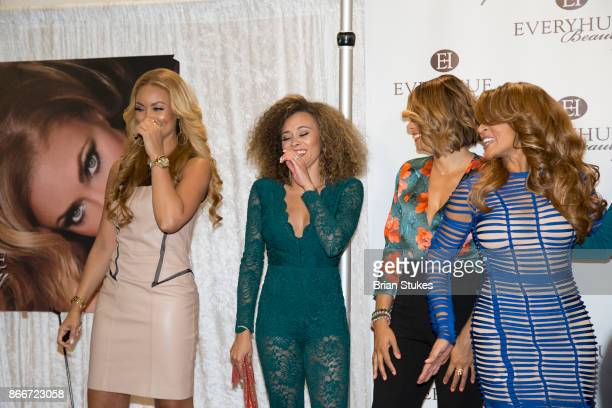Gizelle Bryant Ashley Boalch Darby Robyn Dixon and Karen Huger attend Every Hue Beauty PopUp at The Showroom on October 25 2017 in Washington DC