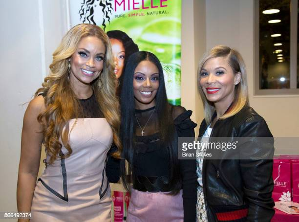 Gizelle Bryant Monique Rodriquez and Erika Liles attend Every Hue Beauty PopUp at The Showroom on October 25 2017 in Washington DC