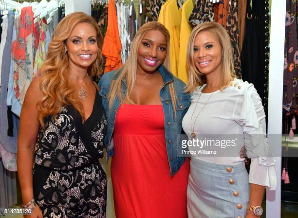 Gizelle Bryant NeNe Leakes and Erika Liles attend EveryHue PopUp Shop at Swagg Boutique on July 13 2017 in Atlanta Georgia