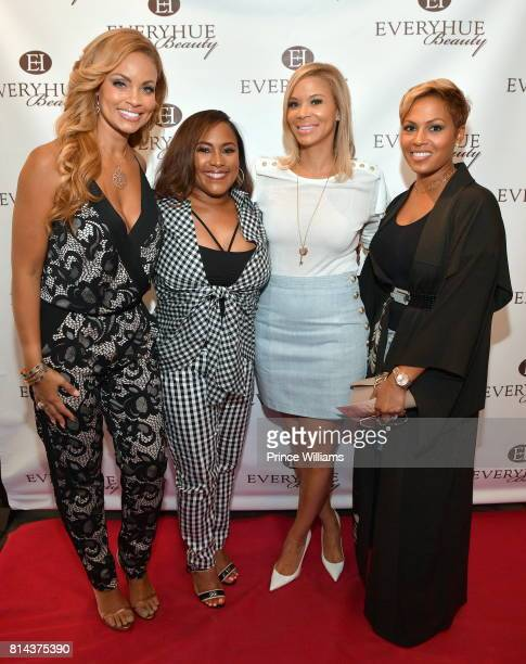 Gizelle Bryant Tanya Parker Erika Liles and Millie smith attend EveryHue PopUp Shop at Swagg Boutique on July 13 2017 in Atlanta Georgia