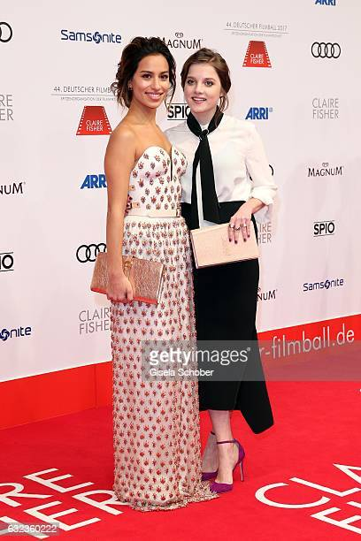 Gizem Emre and Jella Haase during the 44th German Film Ball 2017 arrival at Hotel Bayerischer Hof on January 21 2017 in Munich Germany