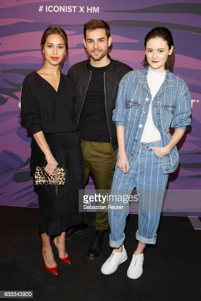Gizem Emre and Lea van Acken attend the Young ICONs Award in cooperation with HM and Tiffany's Co at BRLO Brwhouse on February 14 2017 in Berlin...