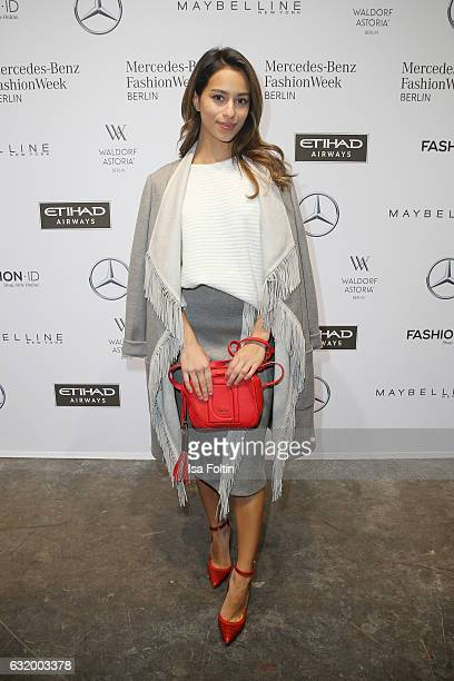 Gizem Emre attends the Laurel show during the MercedesBenz Fashion Week Berlin A/W 2017 at Kaufhaus Jandorf on January 18 2017 in Berlin Germany