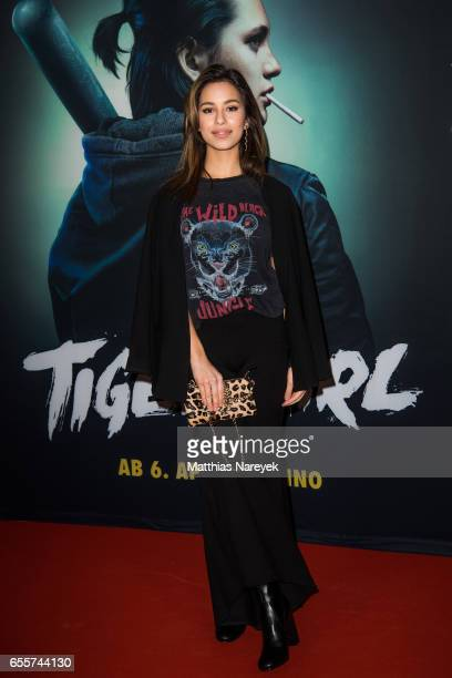 Gizem Emre attends the premiere of the film 'Tiger Girl' at Zoo Palast on March 20 2017 in Berlin Germany