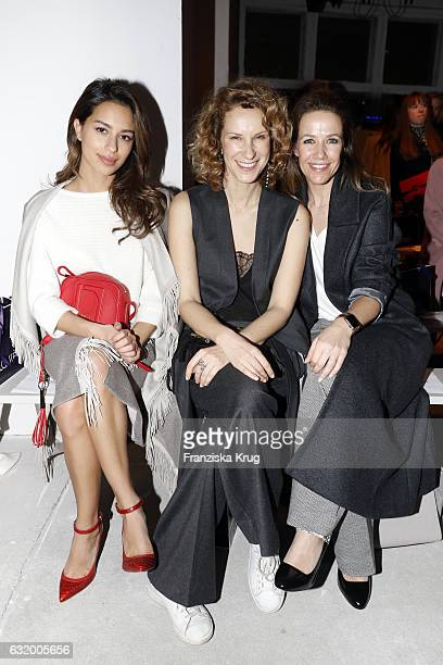 Gizem Emre Chiara Schoras and Alexandra Neldel attend the Laurel show during the MercedesBenz Fashion Week Berlin A/W 2017 at Kaufhaus Jandorf on...