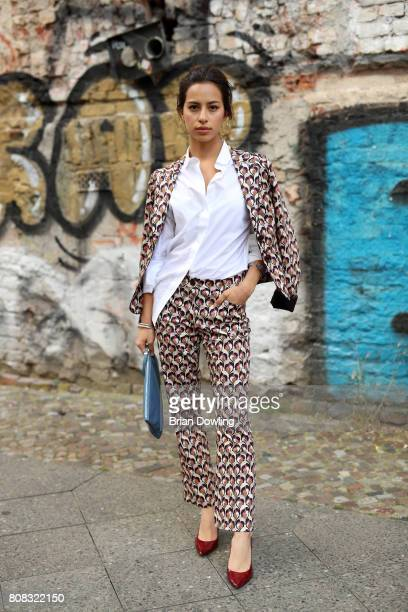 Gizem Emre is seen during the MercedesBenz Fashion Week Berlin Spring/Summer 2018 at Kaufhaus Jandorf on July 4 2017 in Berlin Germany