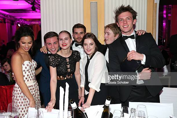 Gizem Emre Jannik Schuemann Alicia von Rittberg Lucas Reiber Jella Haase Louis Hofmann and Jannis Niewoehner during the 44th German Film Ball 2017...